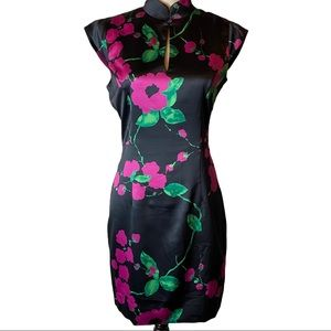 NWT Milly Mei Satin Floral  Dress  Size 4
